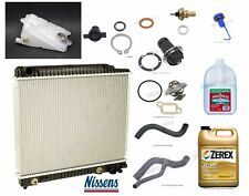 Mercedes W123 W126 Aluminum Radiator and Parts with G48 Antifreeze - Cooling Kit