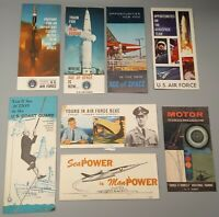 Vintage Air Force, Army, Coast Guard Recruiter & Army Motor Training Brochures