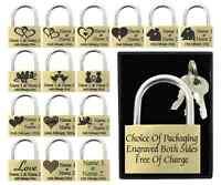 Valentines Gift / Wedding Present 40mm Love Lock Personalised Engraved Padlock