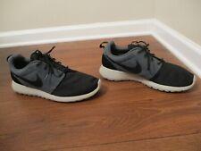Used Worn Size 13 Nike Roshe Run Shoes Black & Dark Magnet