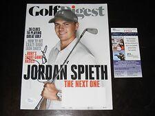 Jordan Spieth signed September 2014 Golf Digest Magazine JSA Masters Open BLACK
