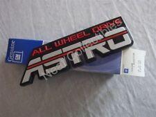 NOS OEM Chevrolet Astro AWD Nameplate Emblem 1990 - 94