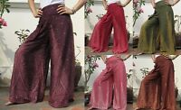 Retro Wide Leg Palazzo Pants Trousers Yoga Dance Bohemian Gypsy Hippie Boho 01