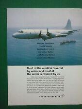 9/1998 PUB LOCKHEED MARTIN P-3C ORION NAVY ASW MARITIME PATROL AIRCRAFT AD