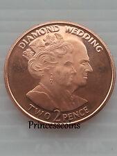 Extremadamente Raro 2007 * UNC * Gibraltar Diamante Boda edición limitada de 2 moneda peniques