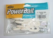 "Leurres BERKLEY POWER BAIT Power Twintail Grub 3"" blanc par 7"
