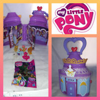 Hasbro My Little Pony bundle Play House Castle Handle Carry Case watch