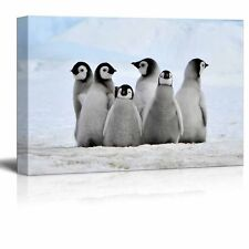Canvas Wall Art - Little Penguins - Giclee Print Gallery Wrap Home Decor -24x 36