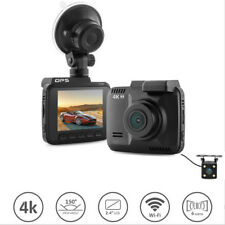 Wifi car dvr dual Cameras for front and rear Video Recorder 4K Vehicle Dash Cam