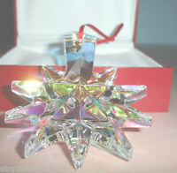 Baccarat Noel Iridescent Star Christmas Ornament Crystal 2013 #2804703 New
