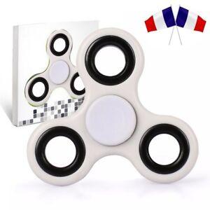 Acheter hand spinner blanc fidget spinner toy jeu toupie roulement EDC ADHD