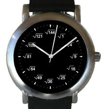 """""""Mathematics Dial"""" Theme Watch Has Square Root Equations At Each Hour Indicator"""