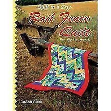 Rail Fence Quilt for Kids of All Ages by Luann Stout (Softcover) Autographed NEW