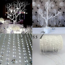 99ft(30M) Wedding Party Decor Garland Clear Diamond Acrylic Crystal Beads Strand
