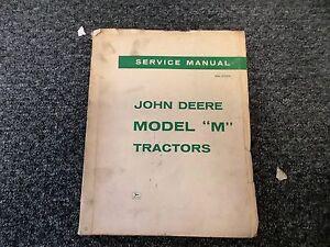 John Deere Model M Tractor Shop Service Repair Manual SM2001