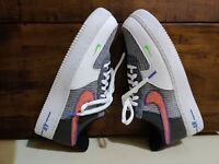 Nike Air Force 1 '07 White Sports Red Grey CU5625-122 Men's Size 10.5