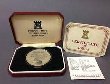 Isle of Man 1 Crown Silber 1976  Pferdekutsche mit Zertifikat + Etui Horse Tram