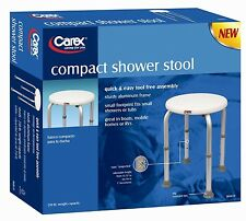 Carex Compact Round Shower Stool, B60011, Tool Free Assembly!
