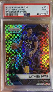 2016 Panini Prizm Starburst Anthony Davis #191 PSA 9 Mint LA Lakers MVP All Star