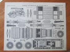 ANCIEN DECOUPAGE MAQUETTE LANDAU AUTOMOBILE VOYAGE IMAGERIE EPINAL PELLERIN