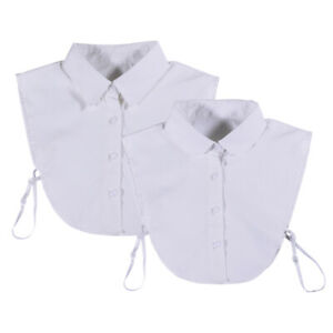 Choker Necklace Unisex Women Peter Pan Detachable Lapel Shirt Fake False Collar
