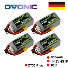 4X Ovonic 14.8V 850mAh 4S 80C Lipo Akku XT30 Stecker Für FPV Drohne 150mm-210mm