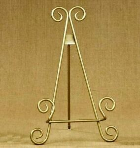 """11""""h Gold Finish Metal Display Easel / Platter Stand ~ Great for Display Phot..."""