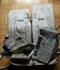 Reebok Goalie Leg Pads 34.5 + 2 Used with Blocker and Glove