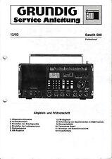Service Manual-Istruzioni per Grundig Satellite 600