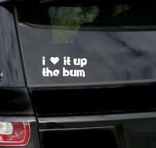 love Bum Sex Anal stink Fun Rude Car Bumper prank Laptop Window Decal Sticker