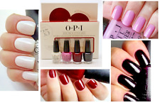 OPI 4pc MINI Set FUNNY BUNNY Lucky Lavender BLUES FOR RED Lincoln Park Aftr Dark