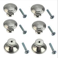 10 pcs Cabinet Knobs Knobs Round Stainless Steel Drawer Handles Kitchen Cupboard