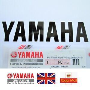 GENUINE YAMAHA BLACK DECAL EMBLEM STICKER BADGE 100mm x 23mm ***UK STOCK***
