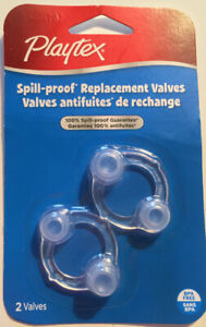 Playtex Spill-Proof Replacement Valves for Drinking Cups New Sealed