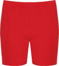 Shorts, bermuda e salopette da donna rosso nessuna fantasia