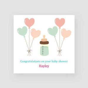 Personalised Handmade Bottle & Balloons Baby Shower Card 2020 Mummy To Be