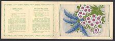 More details for wix (j) - kensitas flowers (extra large, printed) - campanula & sweet william
