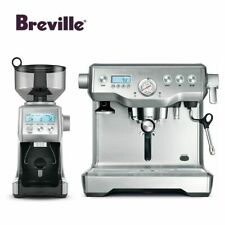Breville BEP920BSS The Dynamic Duo Espresso Machine with Grinder, Brushed Stainl