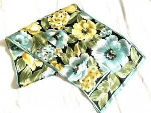 "Adrienne Vittadini Scarf Floral 100% Silk 11.25x54"" Hand Hemmed Eyelash Fringe"