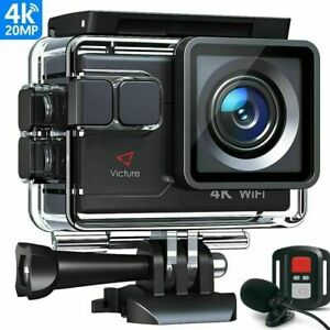 Victure AC900 4K Action Camera Touch Screen Wi-Fi 20MP Waterproof 30M Underwater