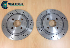 FORD FOCUS ST170 NEW Drilled Grooved Brake Discs REAR