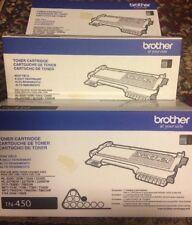 Brother TN450 Toner Black Ink Cartridge Genuine Oem - Factory Sealed (2 Pack)