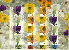 ISRAEL 2001 FLOWERS MY STAMP SHEET FDC