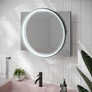 HIB Solas 60 x 80 Illuminated LED Mirror Black