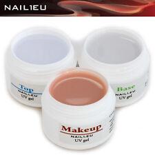 PROFILINE MakeUP Set: Camouflage Aufbau-Gel, Haft-Gel, Versiegelungs-Gel 3*7ml