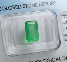 emerald 3.00 carats - Natural emerald Certified IGI - Good Colour Quality