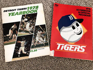 1978 Detroit Tigers Yearbook-Score Trammell Whitaker Fidrych-Mankowski Signed