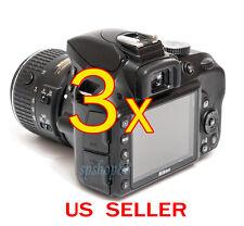3x Nikon Digital SLR D3300 Camera LCD Screen Protector Cover Guard Shield Film