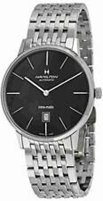 Hamilton Intramatic Mens Watch Auto Black Dial Stainless Steel 42mm H38755131