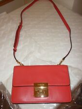Michael Kors small sloan saffiano Coral Reef gold cross-body bag NWTAuthenticc